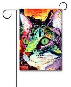 Curiosity Cat - Garden Flag - 12.5'' x 18''