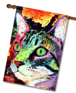 Curiosity Cat - House Flag - 28'' x 40''