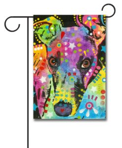 Curious Greyhound - Garden Flag - 12.5'' x 18''