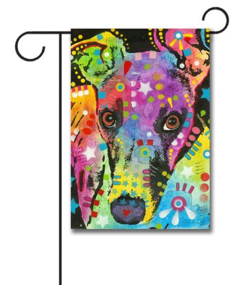 Curious Greyhound - Garden Flag - 12.5'' x 18''