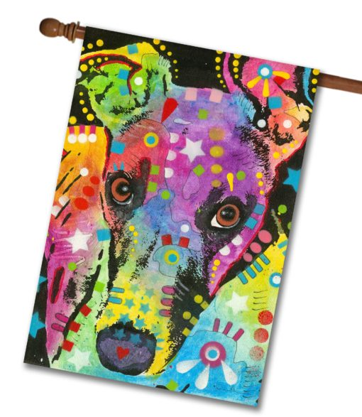 Curious Greyhound - House Flag - 28'' x 40''