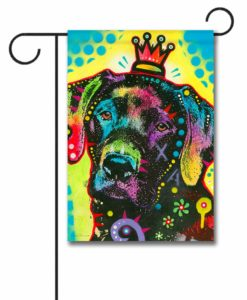 Labrador Crowned Pop Art - Garden Flag - 12.5'' x 18''