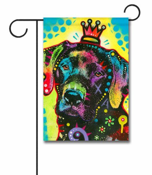 Labrador Crowned Pop Art - Garden Flag - 12.5'' x 18''