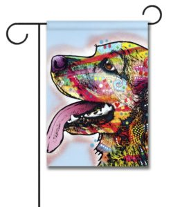 Happy Cocker Spaniel Pop Art - Garden Flag - 12.5'' x 18''