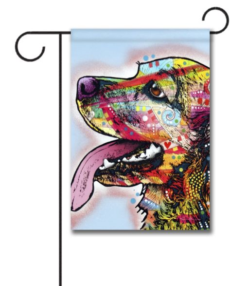 Happy Cocker Spaniel Pop Art - Garden Flag - 12.5'' x 18''