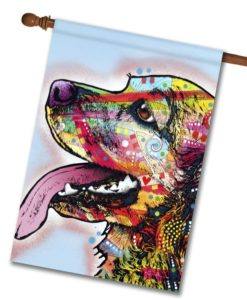 Happy Cocker Spaniel Pop Art - House Flag - 28'' x 40''