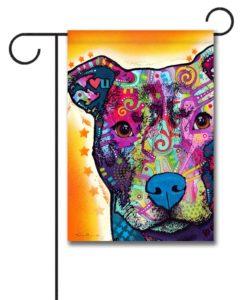 Heart U Pit Bull - Garden Flag - 12.5'' x 18''