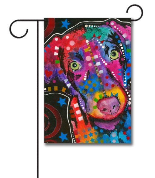 Abstract Puppy - Garden Flag - 12.5'' x 18''
