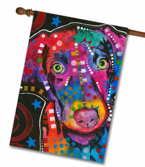 Abstract Puppy - House Flag - 28'' x 40''