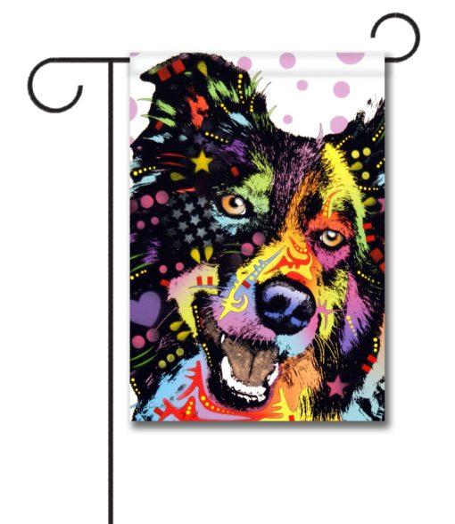 Border Collie Pop Art - Garden Flag - 12.5'' x 18''