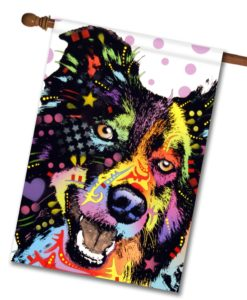 Border Collie Pop Art - House Flag - 28'' x 40''