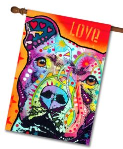 Thoughtful Pitbull - House Flag - 28'' x 40''