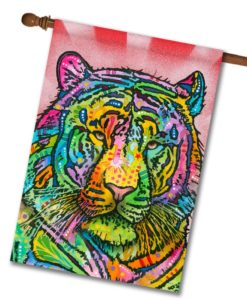 Tiger Pop Art - House Flag - 28'' x 40''