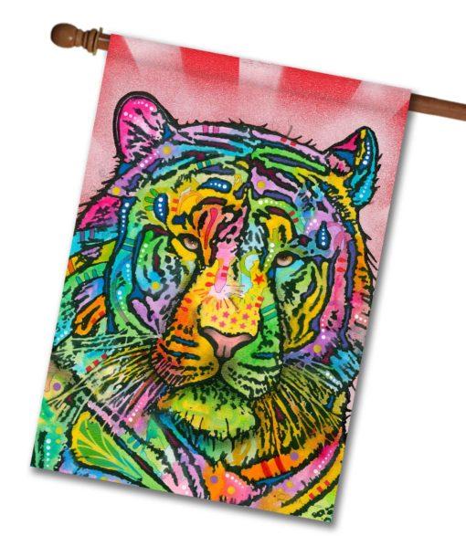 Tiger Pop Art - House Flag - 28'' x 40''