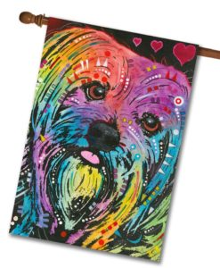 Yorkie Pop Art - House Flag - 28'' x 40''