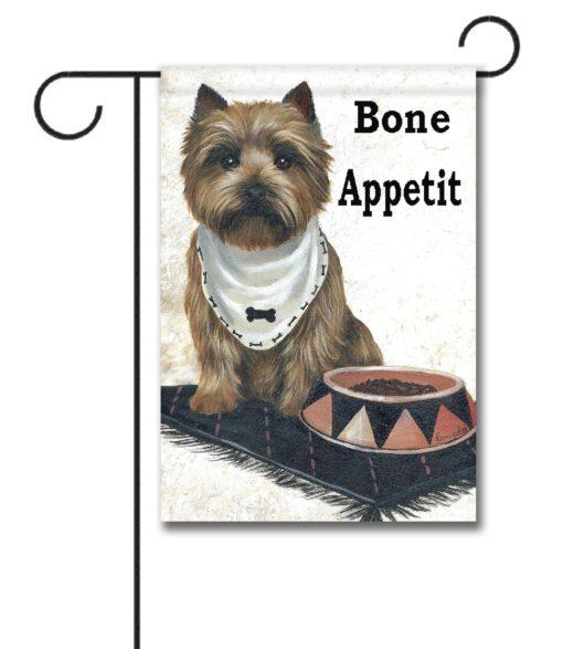 Cairn Terrier Bone Appetit - Garden Flag - 12.5'' x 18''