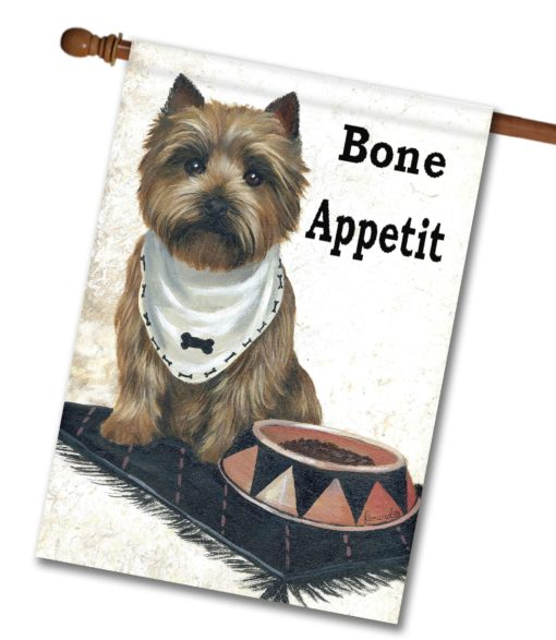 Cairn Terrier Bone Appetit - House Flag - 28'' x 40''