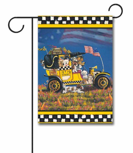 Multi-Breed Pet Taxi Brian - Garden Flag - 12.5'' x 18''