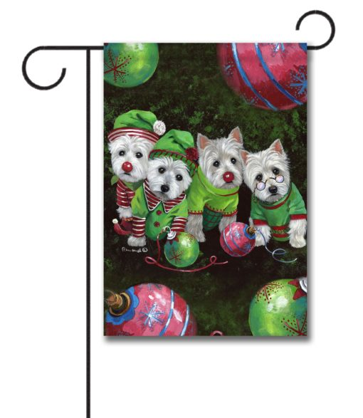 West Highland Terrier Santa's Assistants - Garden Flag - 12.5'' x 18''