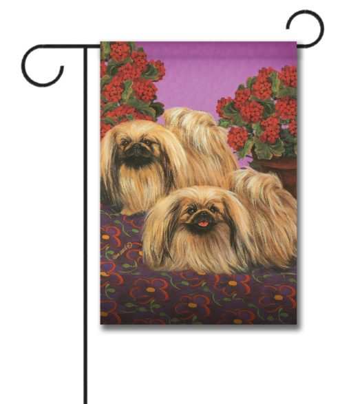 Pekingese Happy We Are - Garden Flag - 12.5'' x 18''