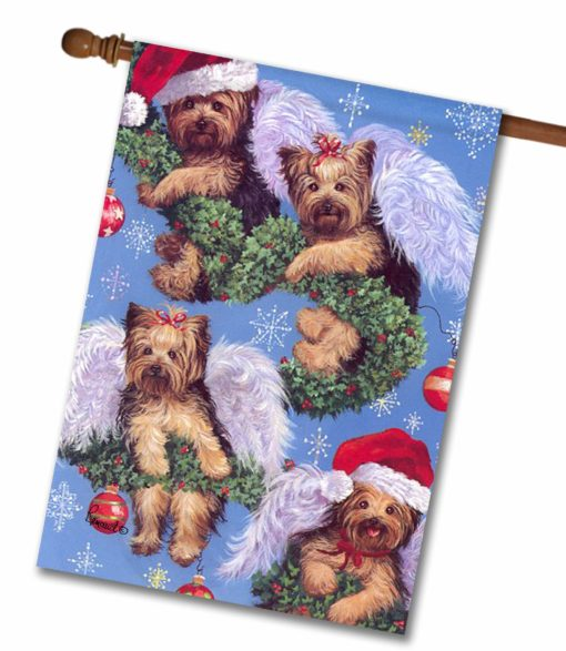 Yorkshire Terrier Spread the Cheer - House Flag - 28'' x 40''