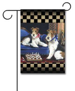 Fox Terrier Checkmates - Garden Flag - 12.5'' x 18''