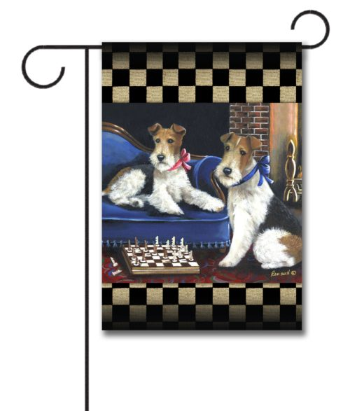 Fox Terrier Checkmates - Garden Flag - 12.5'' x 18''
