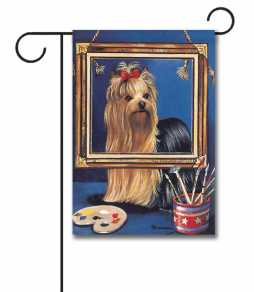 Yorkshire Terrier Pretty Picture - Garden Flag - 12.5'' x 18''