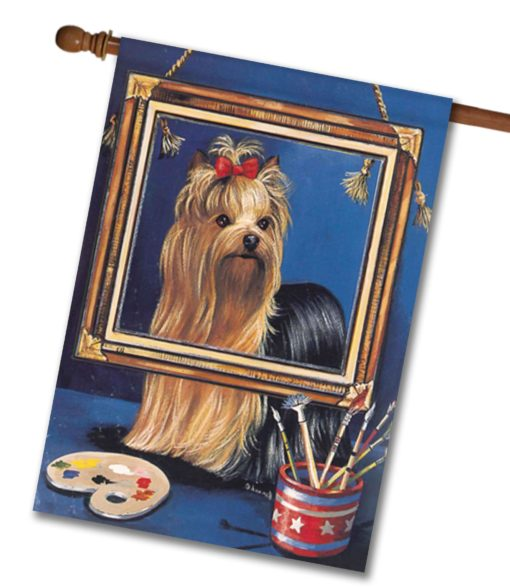 Yorkshire Terrier Pretty Picture - House Flag - 28'' x 40''