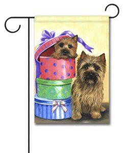Cairn Terrier Boudoir Boxes - Garden Flag - 12.5'' x 18''