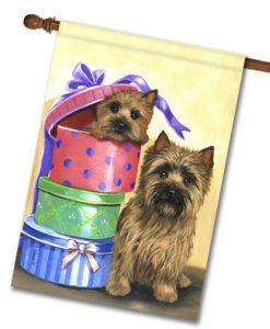 Cairn Terrier Boudoir Boxes - House Flag - 28'' x 40''