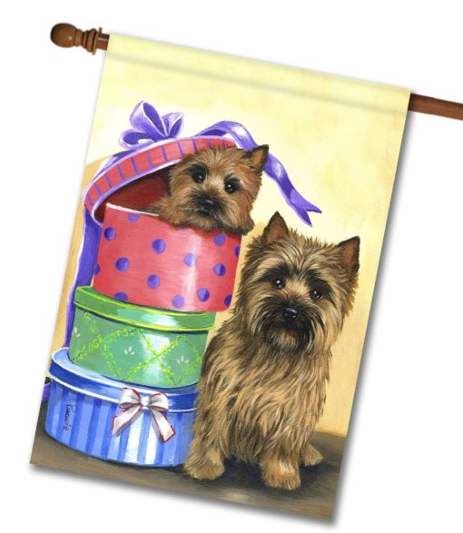 Cairn Terrier Boudoir Boxes - House Flag - 28'' x 40''