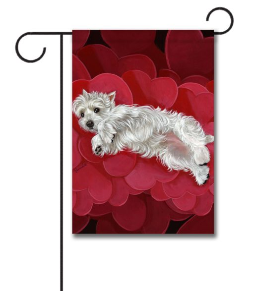 West Highland Terrier Queen of Hearts - Garden Flag - 12.5'' x 18''