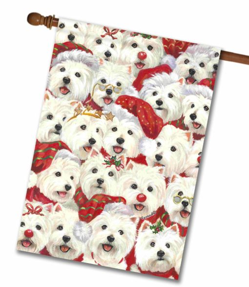 West Highland Terrier Best Wishes - House Flag - 28'' x 40''