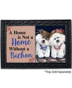 Bichon Frise Sisters House Not A Home Doormat