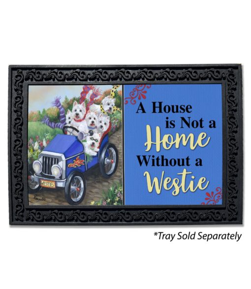 West Highland Terrier Hot Rod House Not a Home Doormat
