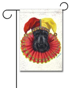 Scottish Terrier Jester - Garden Flag - 12.5'' x 18''