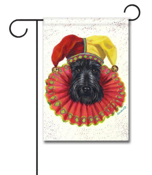 Scottish Terrier Jester - Garden Flag - 12.5'' x 18''