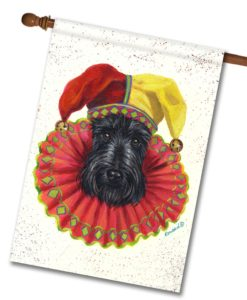 Scottish Terrier Jester - House Flag - 28'' x 40''
