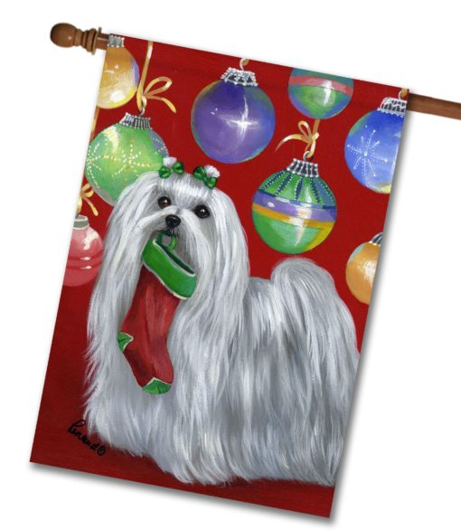 Maltese Stocking Stuffer - House Flag - 28'' x 40''