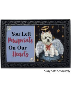 West Highland Terrier Angel Pawprints on Our Hearts Doormat