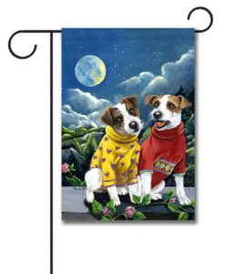 Jack Russell Terrier Moon Phase - Garden Flag - 12.5'' x 18''