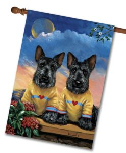 Scottish Terrier Soul Mates - House Flag - 28'' x 40''