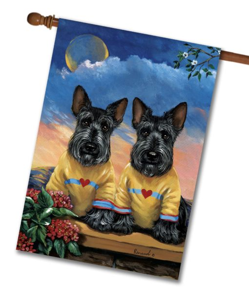 Scottish Terrier Soul Mates - House Flag - 28'' x 40''