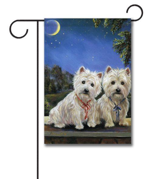 West Highland Terrier Moonlighters - Garden Flag - 12.5'' x 18''