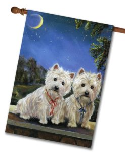 West Highland Terrier Moonlighters - House Flag - 28'' x 40''