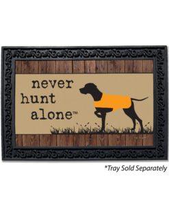 Never Hunt Alone Doormat
