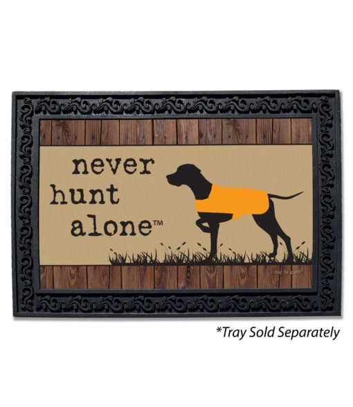 Never Hunt Alone Doormat