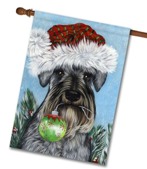 Schnauzer Pure at Heart - House Flag - 28'' x 40''
