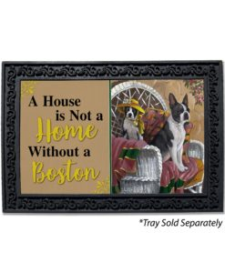 Boston Terrier Patio Gems House Not A Home Doormat